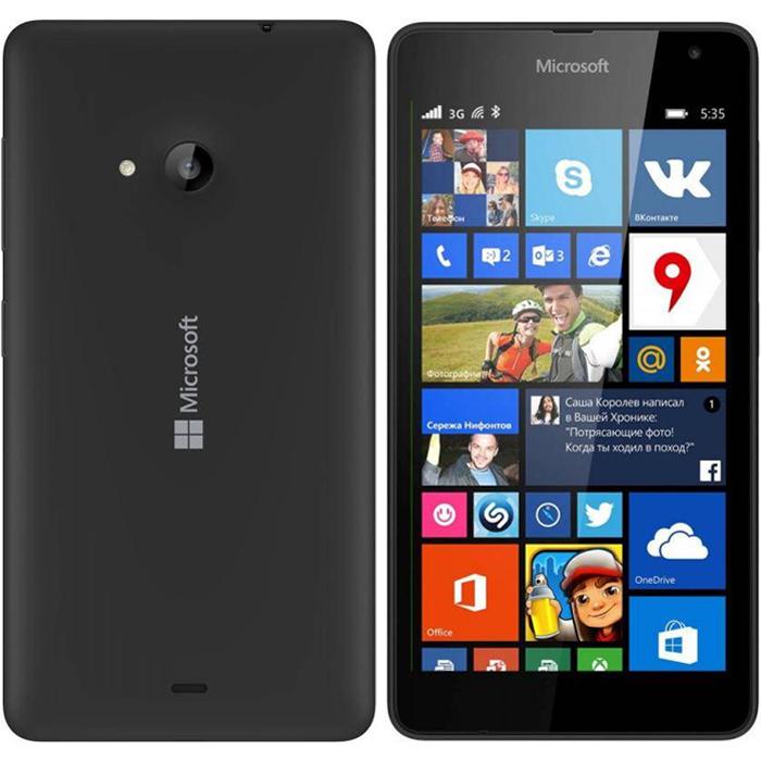 microsoft lumia 535 dual sim черный купить